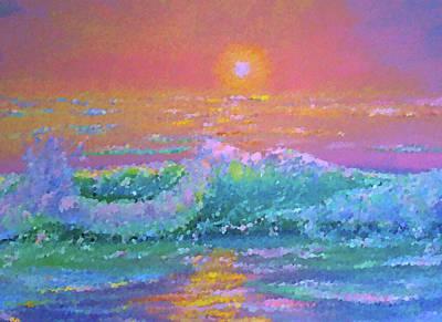 River Painting - Nature Landscape Light by Edna Wallen