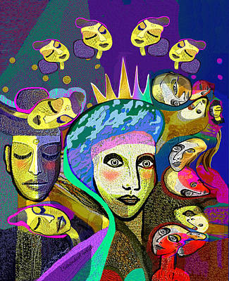 Digital Art - 2355 Queen Of Carnival 2017 by Irmgard Schoendorf Welch