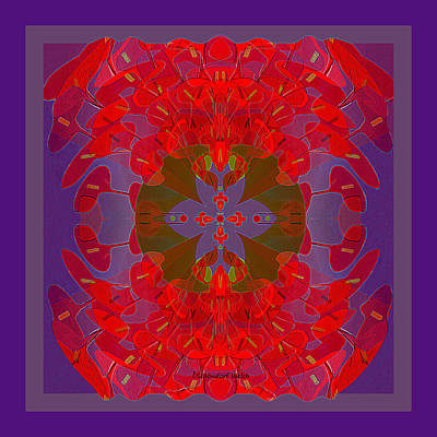 Digital Art - 2364 - Mandala 2017 by Irmgard Schoendorf Welch
