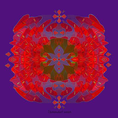 Digital Art - 2372 - Mandala With Crosses  2017 by Irmgard Schoendorf Welch