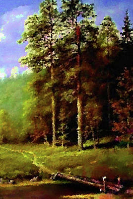 Summer Painting - Nature Cool Landscape by Edna Wallen