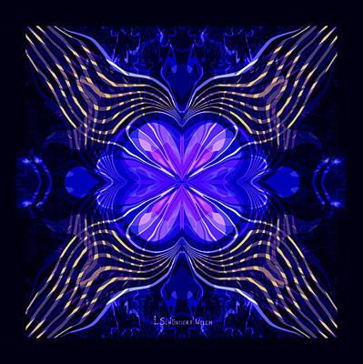 Digital Art - 2392 - Mandala 2017 by Irmgard Schoendorf Welch