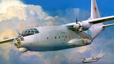 Airplane Digital Art - Aircraft by Super Lovely