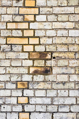 Color Block Photograph - Brick Wall by Tom Gowanlock