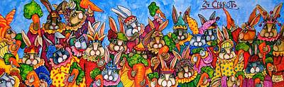 Mardi Gras Painting - 24 Carrots by Sherry Dole