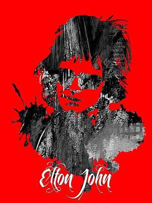 Elton John Collection Print by Marvin Blaine