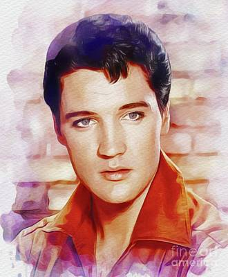 Musicians Royalty Free Images - Elvis Presley, Rock and Roll Legend Royalty-Free Image by John Springfield