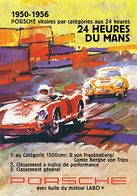 Painting - 24 Hours Of Le Mans by Gary Grayson