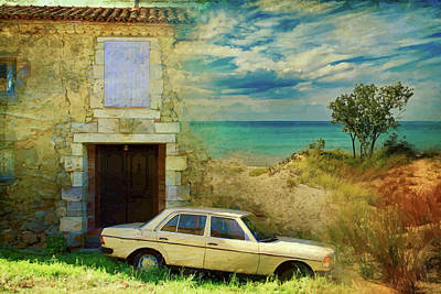 24 Hr Parking By The Beach Art Print