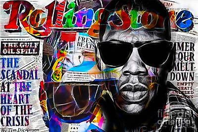 Jay Z Wall Art - Mixed Media - Jay Z Collection by Marvin Blaine