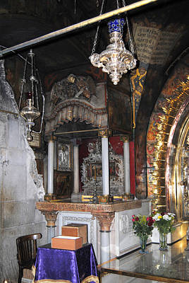 Photograph - Inside The Church Of The Holy Sepulchre 1 by Isam Awad