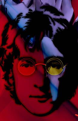 Beatles Mixed Media - John Lennon Collection by Marvin Blaine