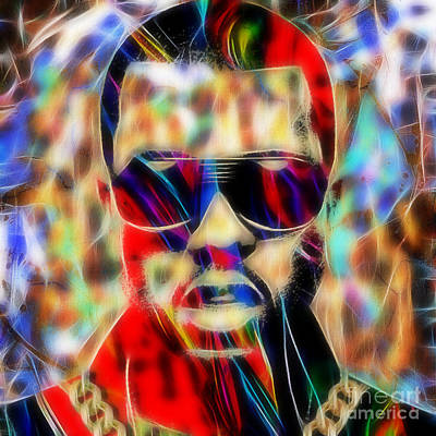 Rap Mixed Media - Kanye West Collection by Marvin Blaine
