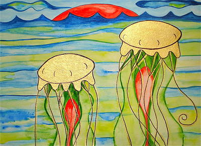 Painting - 24-karat Jellies by Erika Swartzkopf