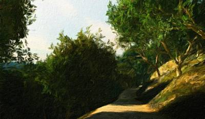 Idyllic Painting - Nature Landscape Light by Margaret J Rocha