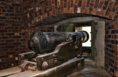 24 Pounder Cannon Art Print by Peter Chilelli