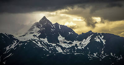 Photograph - Rocky Mountains Nature Scenes On Alaska British Columbia Border by Alex Grichenko
