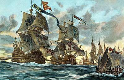 Spanish Armada (1588) Art Print by Granger