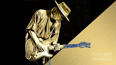 Stevie Ray Vaughan Collection Art Print
