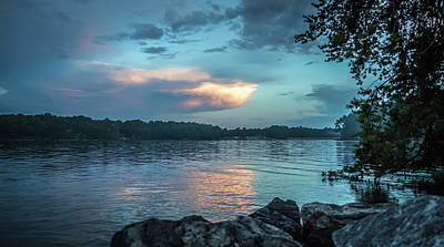 Photograph - Stormy Landscape Over Lake Jocassee South Carolina by Alex Grichenko