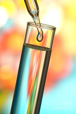 Photograph - Test Tube In Science Research Lab by Olivier Le Queinec