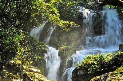 Photograph - Waterfall Scenery by Carl Ning