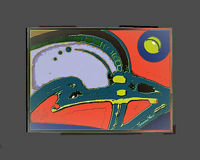 Digital Art - 2402 - Amphibian by Irmgard Schoendorf Welch