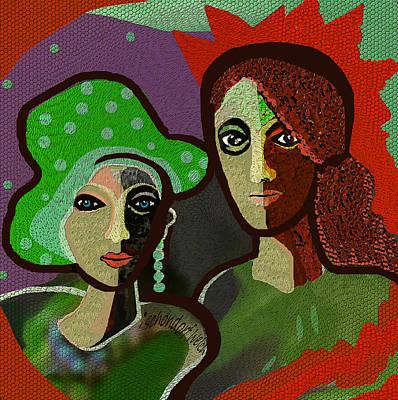 Digital Art - 2407 - Green Pocodot Hat 2017 by Irmgard Schoendorf Welch