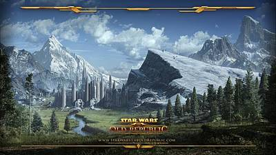 Old Video Game Digital Art - 24171 Video Games Star Wars  The Old Republic  by F S