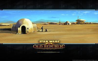 Old Video Game Digital Art - 24199 Video Games Star Wars  The Old Republic  by F S