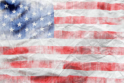 Digital Art - American Flag by Les Cunliffe