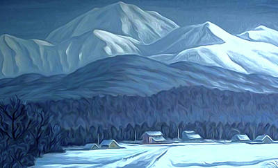 Winter Painting - Nature Landscape Painted by Edna Wallen