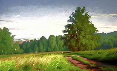 Cloud Painting - Nature Landscape Art by Edna Wallen
