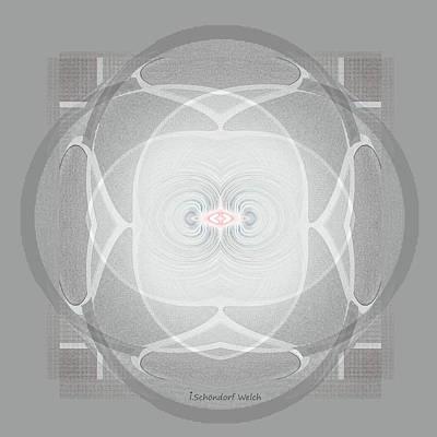 Digital Art - 2441 Mandala Innocence A by Irmgard Schoendorf Welch