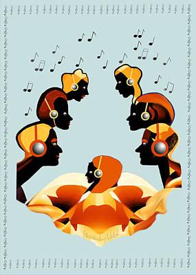 Digital Art - 2446 Listen To The  Music 2017 by Irmgard Schoendorf Welch