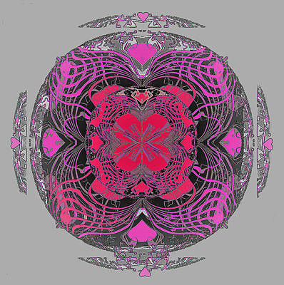 Digital Art - 2450 Mandala 2017 by Irmgard Schoendorf Welch