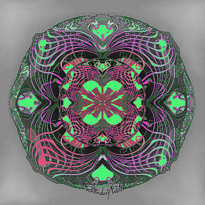 Digital Art - 2451 Mandala A by Irmgard Schoendorf Welch