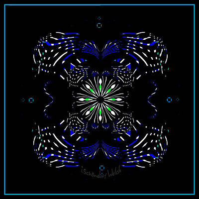 Digital Art - 2455 A Mandala 2017 by Irmgard Schoendorf Welch