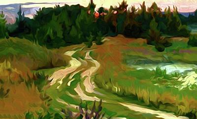 Blue Painting - Nature Landscape Jobs by Edna Wallen