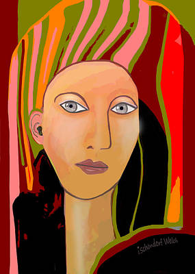 Digital Art - 2485 Portrait Of A Proud Lady 2017  by Irmgard Schoendorf Welch