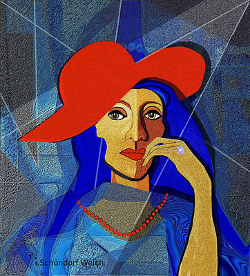 Digital Art - 2494 Lady With A Diamond Ring A by Irmgard Schoendorf Welch