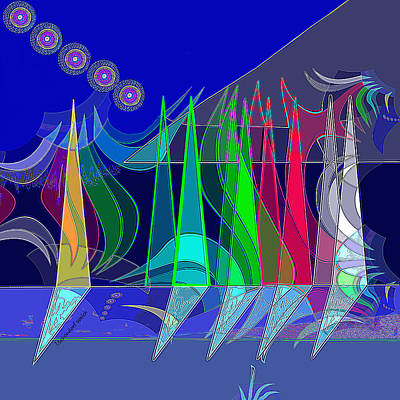 Digital Art - 2498 Sailing 2017 by Irmgard Schoendorf Welch