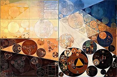New Element Digital Art - Abstract Painting - Zinnwaldite Brown by Vitaliy Gladkiy