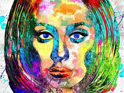 Adele Mixed Media - 25 Adele Album Grunge by Daniel Janda