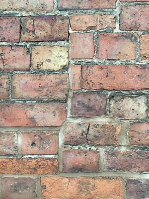 Aging Photograph - Brick Wall by Tom Gowanlock