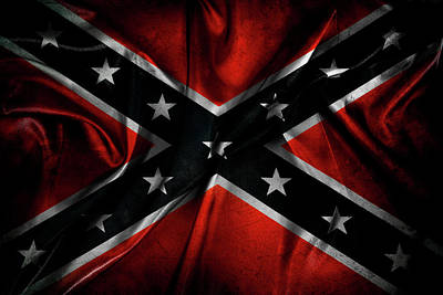 Digital Art - Confederate Flag by Les Cunliffe