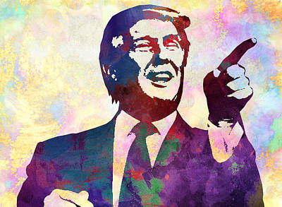 Donald Trump 2016 Presidential Candidate Art Print by Elena Kosvincheva