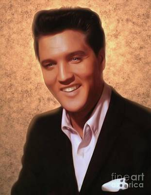 Music Royalty-Free and Rights-Managed Images - Elvis Presley, Rock and Roll Legend by Mary Bassett