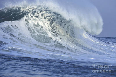 Seascape. Wave Photograph - 25 Feet On A Beautiful Morning by Stan and Anne Foster