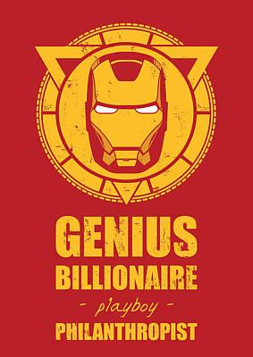 Ironman Digital Art - Iron Man by Fine Artist